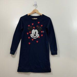 Gap Disney Sequin Mickey Mouse Sweatshirt Dress 12